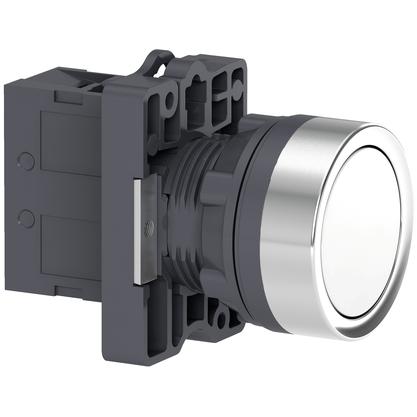 Botão 22mm plástico a impulsão 1NA Branco - XA2EA11 - Schneider-Electric
