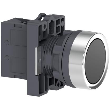 Botão 22mm Plástico Impulsão 1NA Preto - XA2EA21 - Schneider-Electric