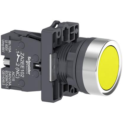 Botão 22mm Plástico a Impulsão 1NA Amarelo - XA2EA51 - Schneider-Electric