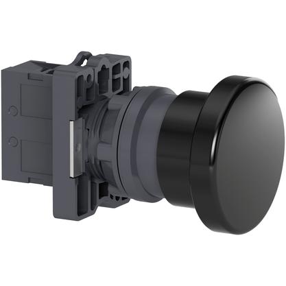 Botão 22mm Plástico Soco a Impulsão D40mm 1NA Preto - XA2EC21 - Schneider-Electric