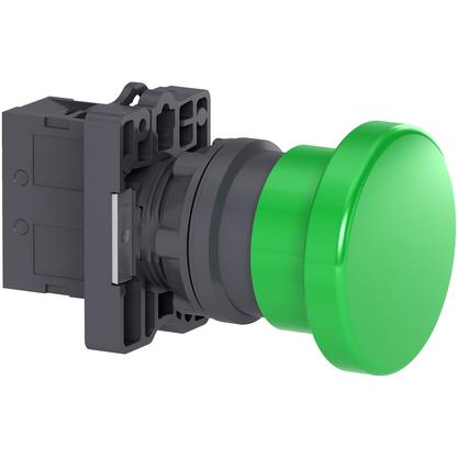 Botão 22mm Plástico Soco a Impulsão D40mm 1NA Verde - XA2EC31 - Schneider-Electric