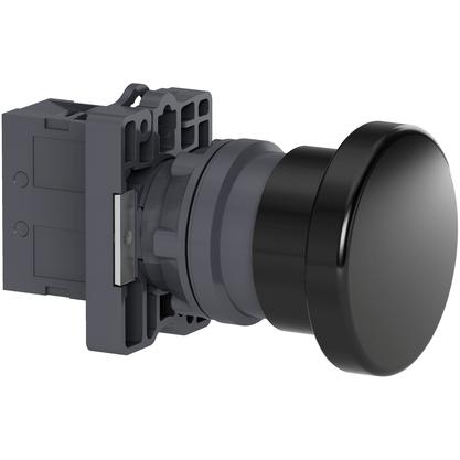Botão 22mm Plástico Soco a Impulsão D60mm 1NA Preto - XA2ER21 - Schneider-Electric