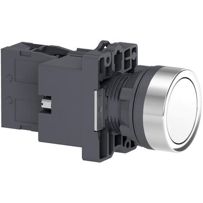 Botão 22mm Plástico Iluminado Led 24V CC/CA Branco 1NA - XA2EW31B1 - Schneider-Electric