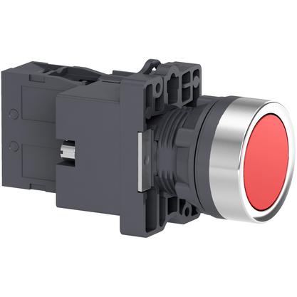 Botão 22mm Plástico Iluminado Vermelho Led 24V 1NF -  XA2EW34B2 - Schneider-Electric