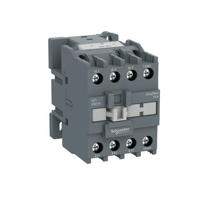 Contactor Tripolar Tesys E 24VCA 1NF 38A 50/60HZ -  LC1E3801B7 - Schneider-Electric