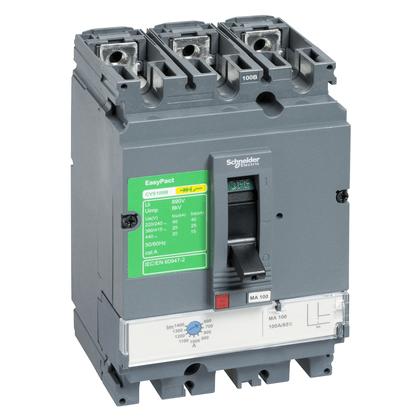 Disjuntor Tripolar Caixa Moldada Ajustável 44-63A - CVS100B3063 - Schneider-Electric