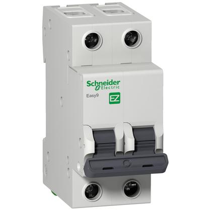 Disjuntor Easy9 Bipolar  63A Curva C - EZ9F33263 - Schneider-Electric