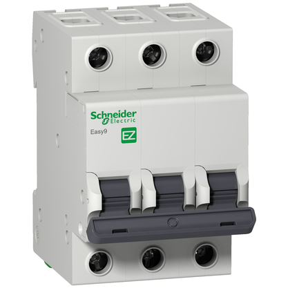 Disjuntor Easy9 Tripolar  6A Curva C - EZ9F33306 - Schneider-Electric