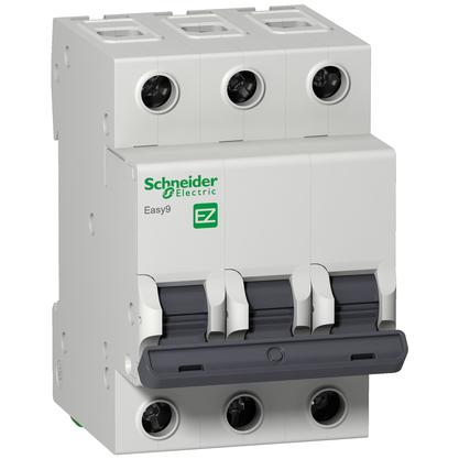 Disjuntor Easy9 Tripolar  25A Curva C - EZ9F33325 - Schneider-Electric