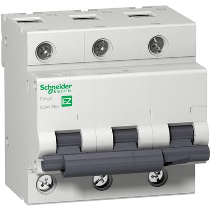Disjuntor Easy9 Tripolar  80A Curva C - EZ9F33380 - Schneider-Electric