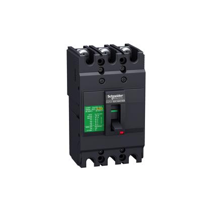 Disjuntor Tripolar Caixa Moldada 100A - EZC100N3100 - Schneider-Electric