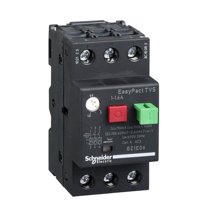 Disjuntor Motor Termomagnético 1 - 1,6A - GZ1E06 - Schneider-Electric