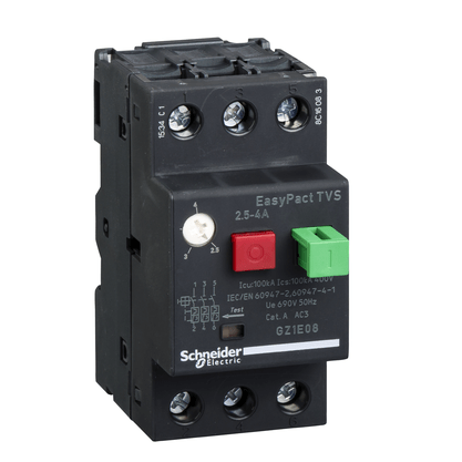 Disjuntor Motor Termomagnético 2,5 - 4A - GZ1E08 - Schneider-Electric