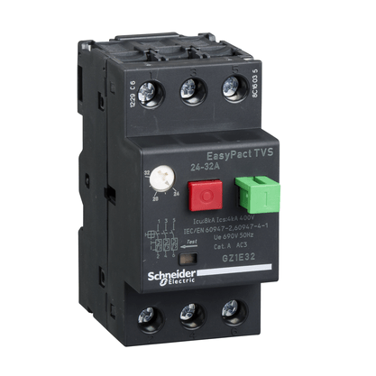 Disjuntor Motor Termomagnético 24 - 32A - GZ1E32 - Schneider-Electric