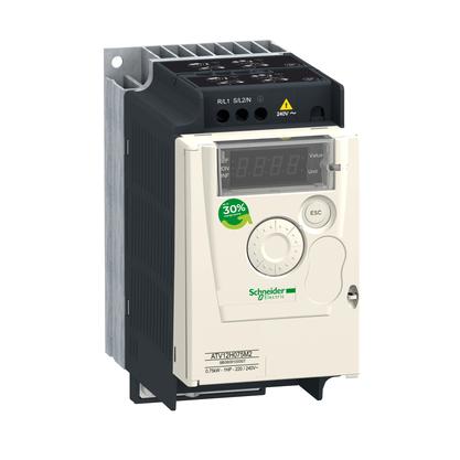 Inversor de Frequência 4.2A - 0.75KW - 1CV - Alimentação Monofásica 200-240V - ATV12H075M2 - Schneider-Electric