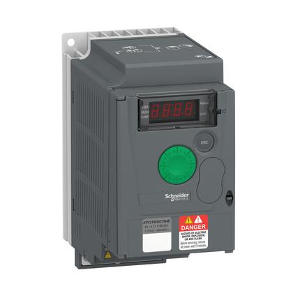 Inversor de Frequência - 0.37KW - 0.5CV - 380...460V - Trifásico - ATV310H037N4E - Schneider-Electric