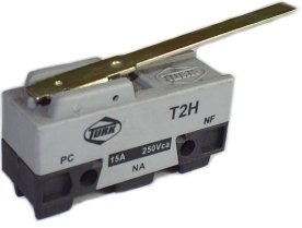 Micro Chave Fim de Curso NA+NF 15A / 250V - T2H - Turk