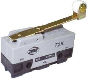 Micro Chave Fim de Curso NA+NF 15A / 250V - T2K - Turk