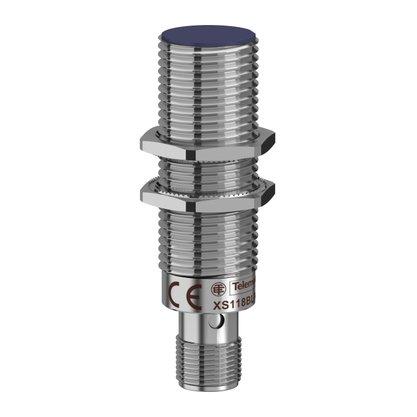Sensor Indutivo D18 NPN - NA - Sn=5mm / Conector M12 - XS118BLNAM12 - Telemecanique