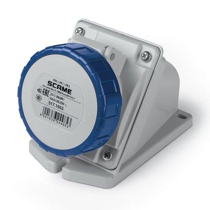 Tomada Industrial Sobrepor 2P+T 16A 200/250V 6H IP67 - 517.1653 - Scame