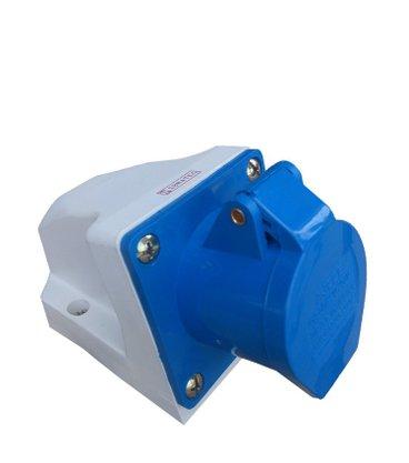 Tomada Industrial Sobrepor 3006/BC 16A 2P+T - 220/240V 6H - 5387 - Sibratec