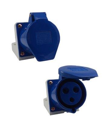 Tomada Industrial Sobrepor 3206/BC 32A 2P+T- 220/240V 6H - 5389 - Sibratec