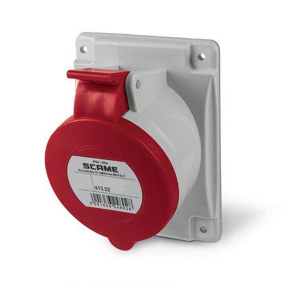 Tomada Industrial Embutir 3P+T 32A 380/415V 6H IP44 - 413.3266 - Scame
