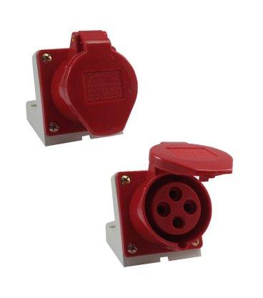 Tomada Industrial Sobrepor 4006/BC 16A 3P+T - 380/440V 6H - 5388 - Sibratec