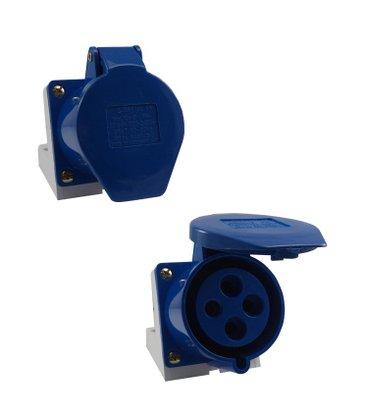 Tomada Industrial Sobrepor 4209/BC 32A 3P+T- 220/240V 9H - 5873 - Sibratec