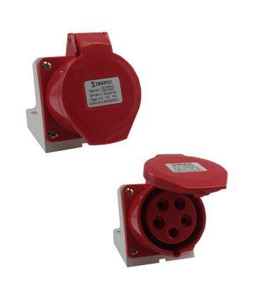 Tomada Industrial Sobrepor 5006/BC 16A 3P+T+N - 380/440V 6H - 5391 - Sibratec