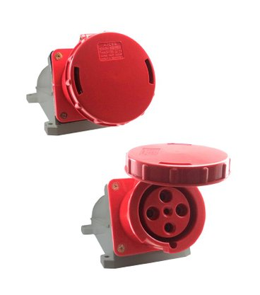 Tomada Industrial Sobrepor S-4506 63A 3P+T - 380/440V 6H - 7414 - Sibratec
