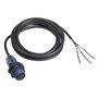 Sensor Fotoelétrico Barreira Receptor  D18 NPN - NA - Sn=15 Metros  / Cabo 2 Metros  - XUB2ANANL2R - Telemecanique